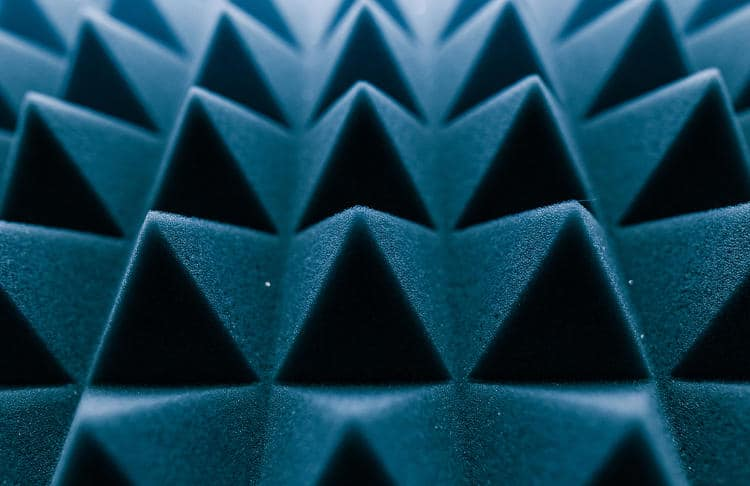 Soundproofing (acoustic) foam - blue.