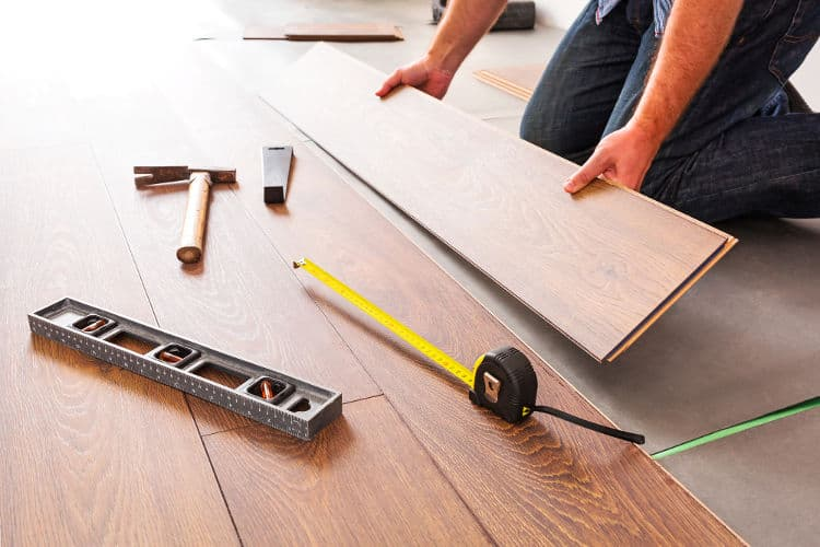 DIY floor soundproofing project.