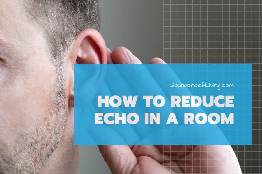What are effective ways to reduce echo in large rooms or offices.