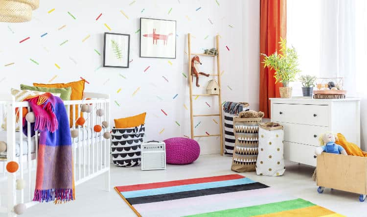 Soundproof a baby room while you are rearranging the furniture or decorating the walls.