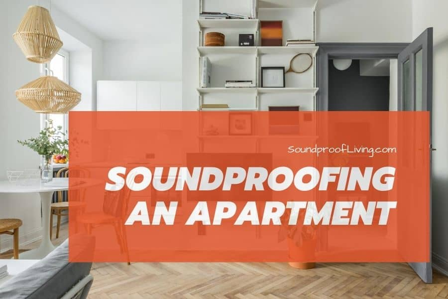 Soundproofing an apartment room with cushions, carpets, soft-surfaced walls, etc.