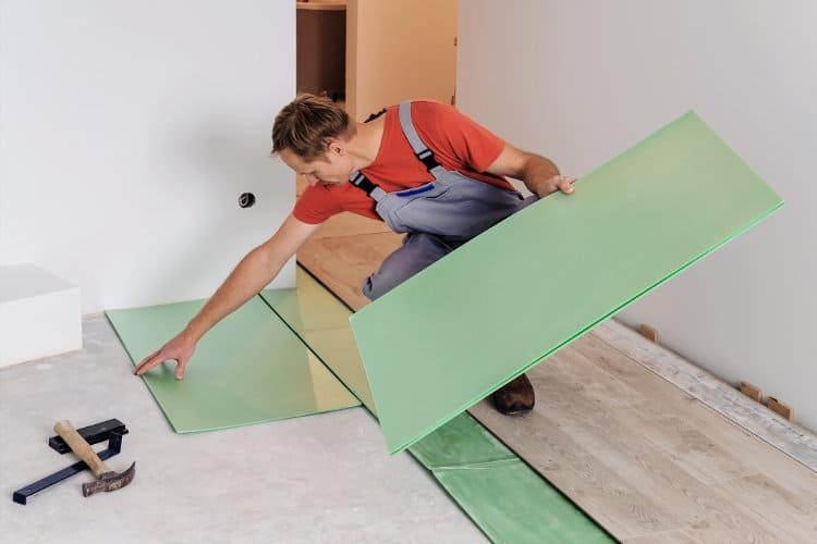 Best soundproof underlayment for laminate or hardwood flooring..
