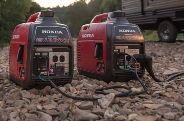 How to make a noisy generator quiet for camping.