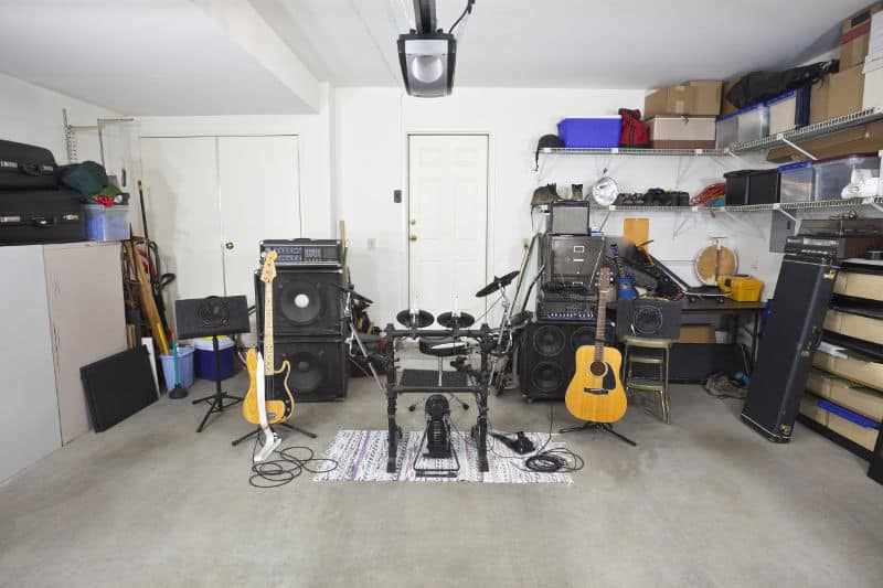 Soundproofing a garage for band practice: How to soundproof the secondary door and all the walls.