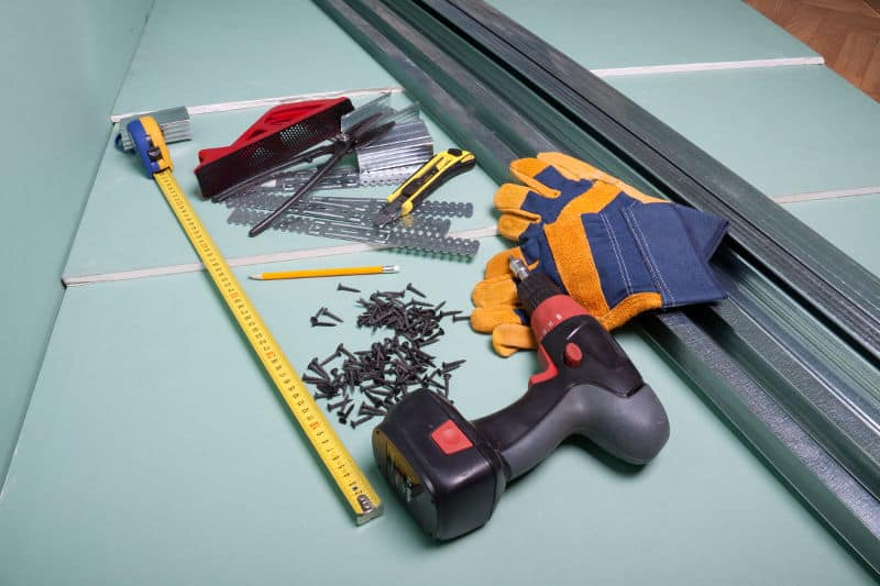 Soundproofing drywall: Installations tools and materials