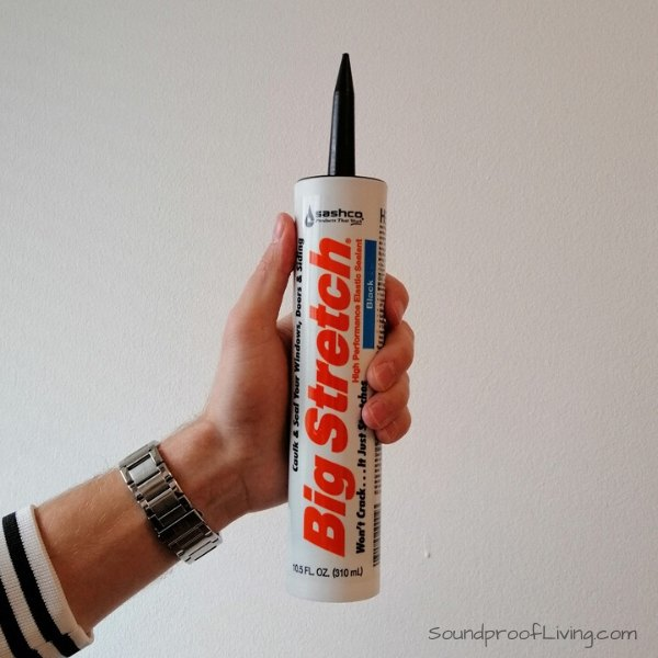 Sashco Big Stretch acoustic sealant/caulk. Best Soundproofing materials.