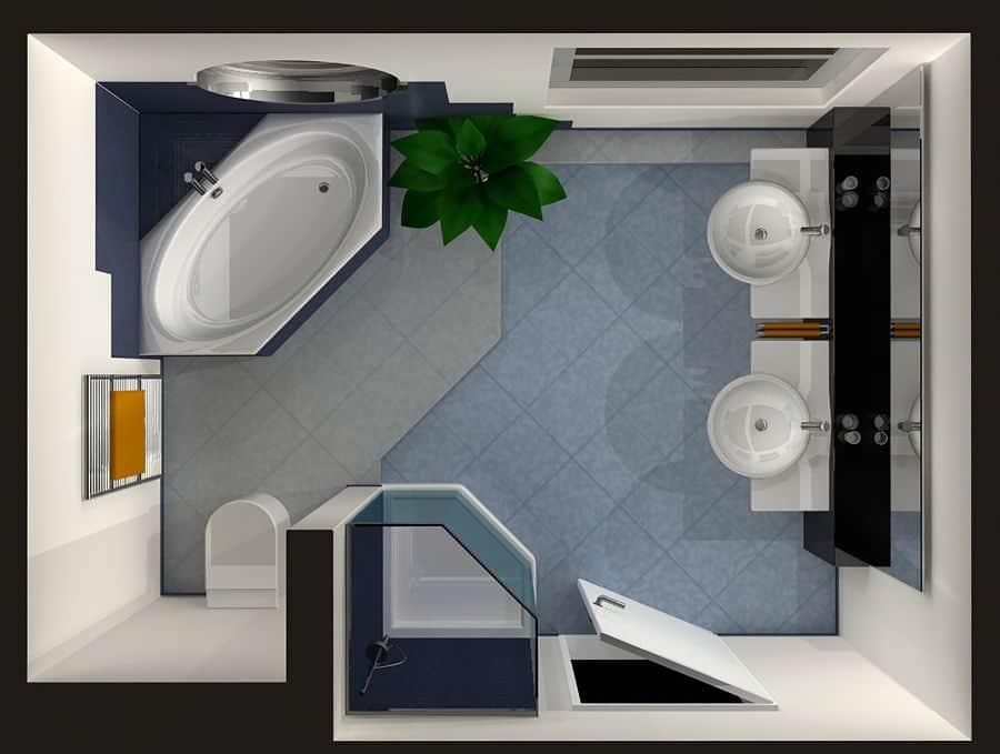 Soundproofing a bathroom floor.