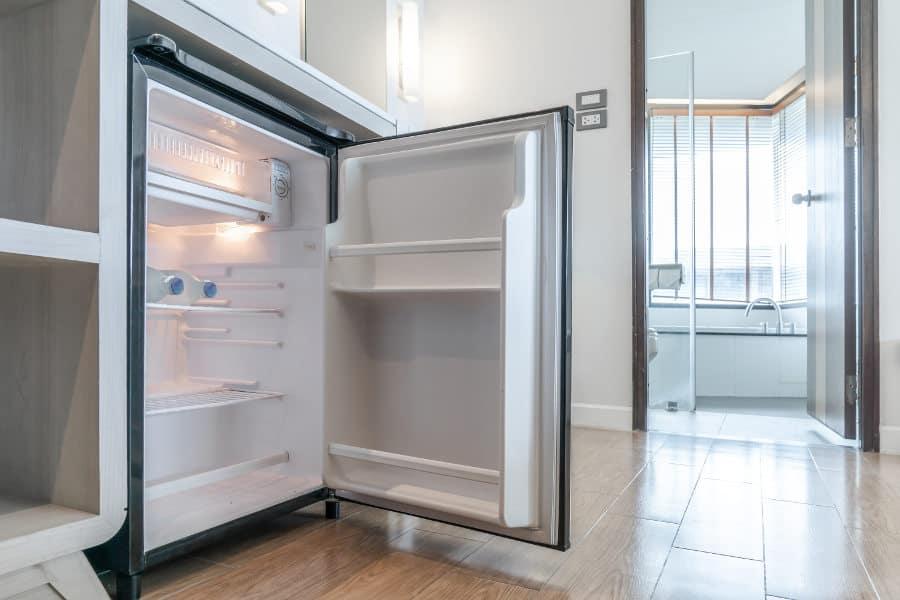 mini fridge kitchen cabinet