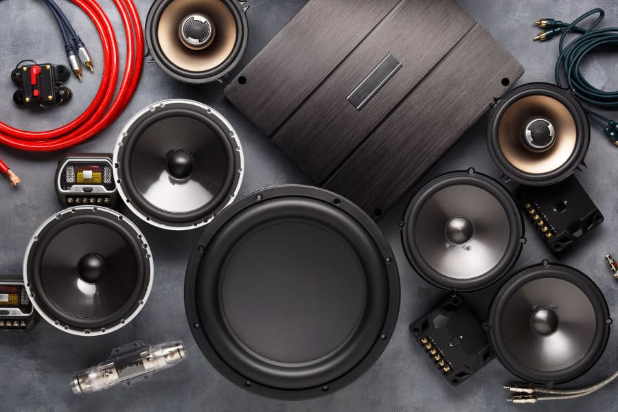 Get a new car audio system (speaker, subwoofer, etc.)