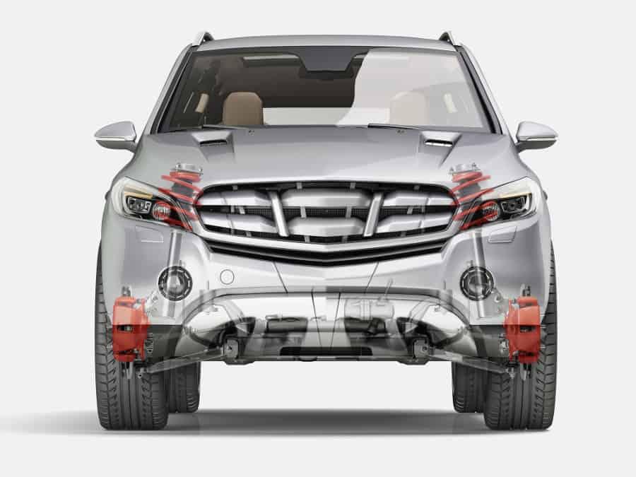 Car suspension system.