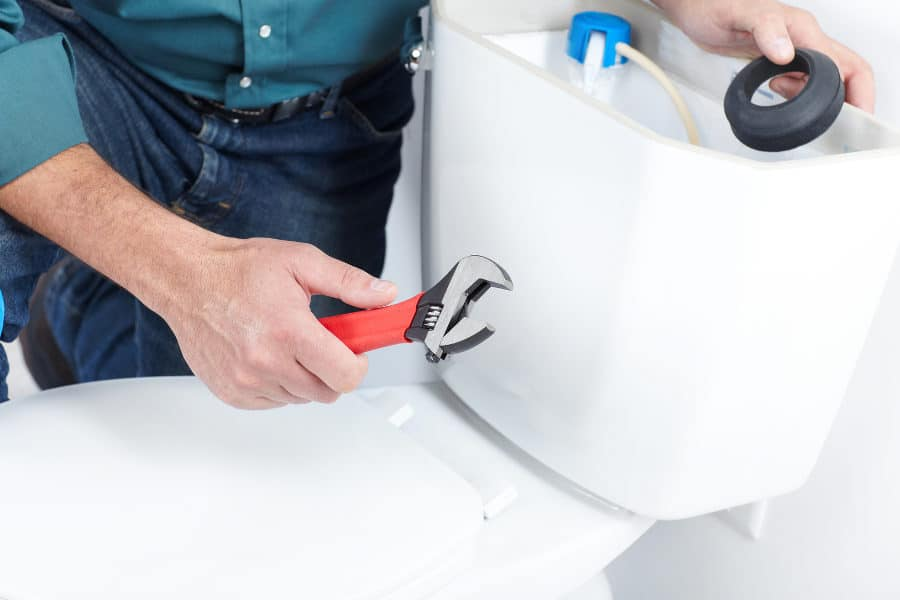 Toilet repair: How to make the toilet flush quieter.