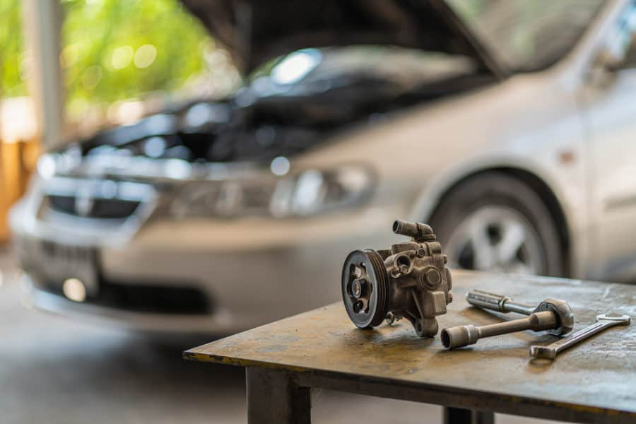 How to fix a noisy power steering pump.