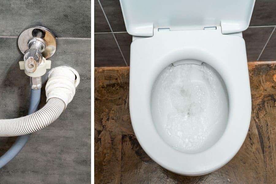Toilet gurgling when washing machine drains.