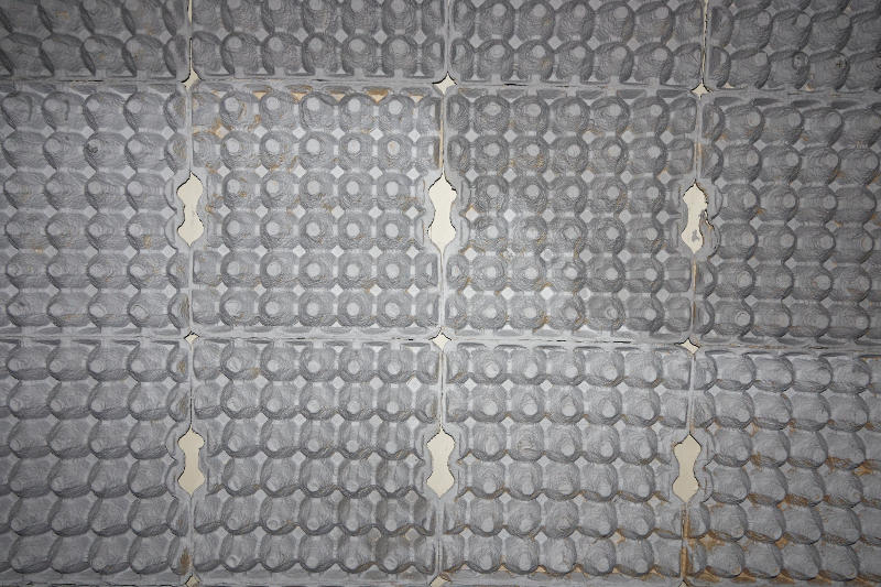 Egg cartons are a great DIY solution to absorb sound in a studio.