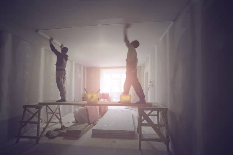 Soundproofing a ceiling.