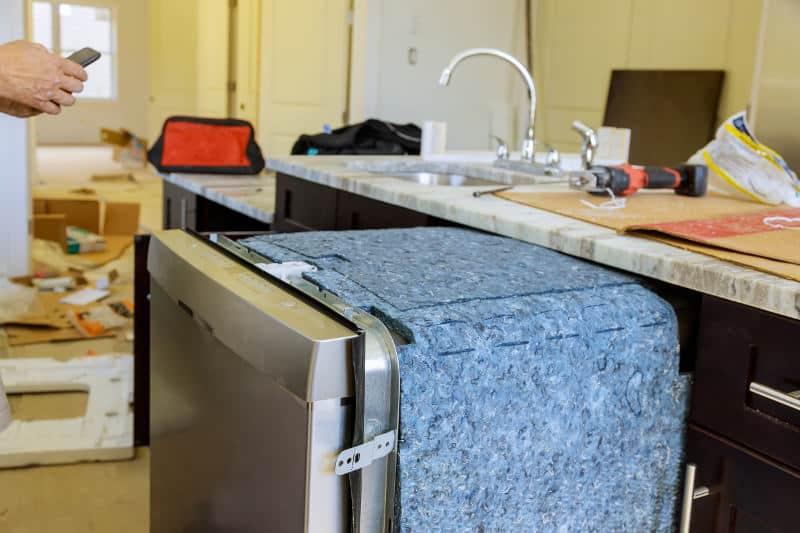 Cotton dishwasher insulation