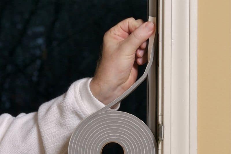 Applying foam weatherstripping tape will prevent the door from slamming.